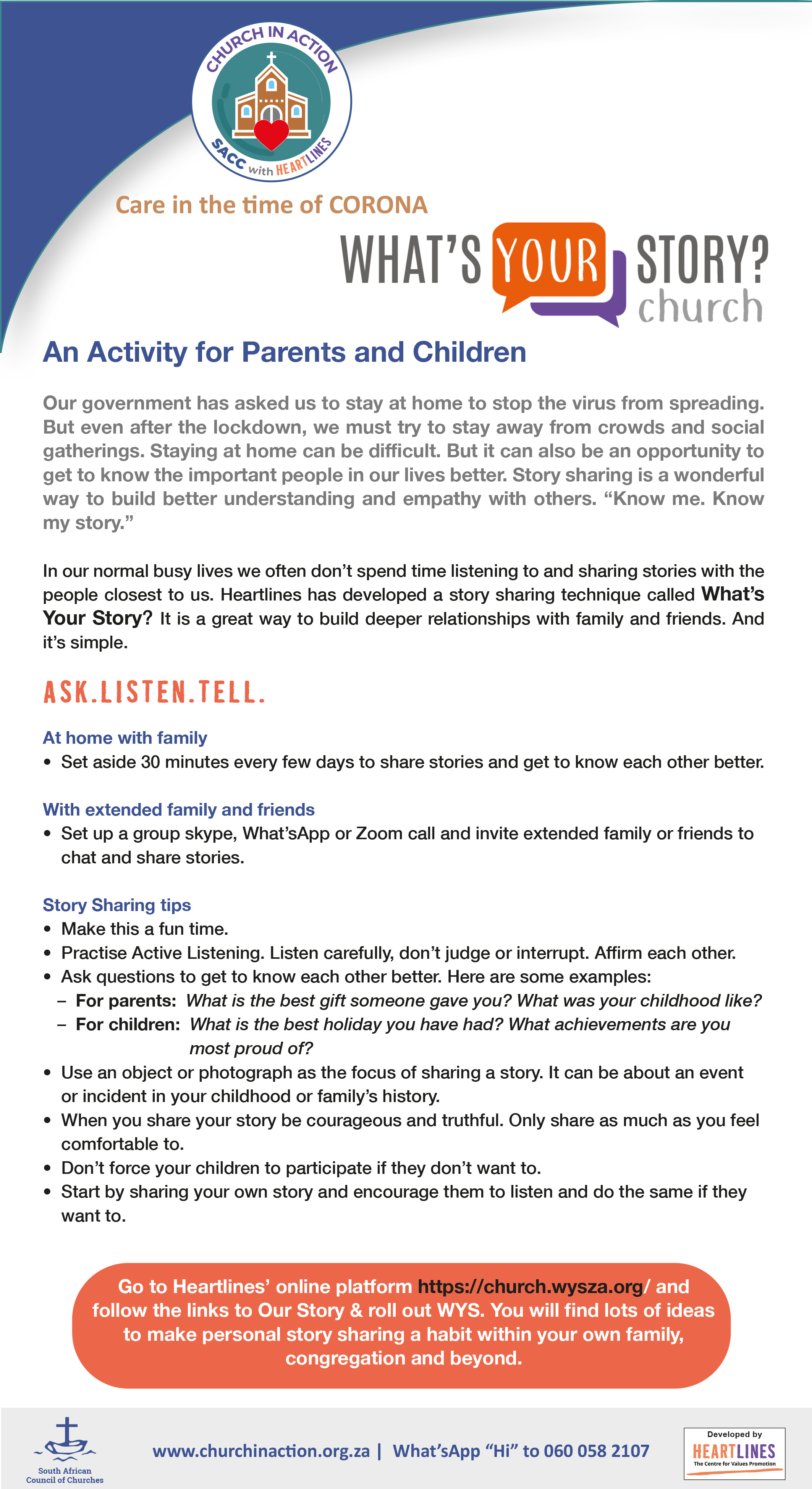 An Activity for Parents and Children